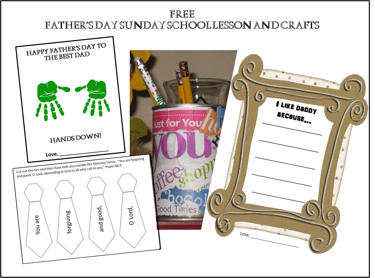 Free Fathers Day Sunday School Lesson Kathy Hutto