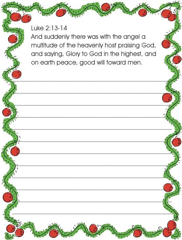 Christmas copywork 3rd week