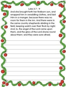 copywork Christmas