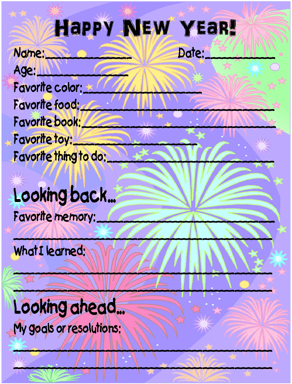 new years surveys printable new year s eve survey and homemade toasting 4232