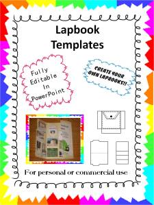 lapbook template cover
