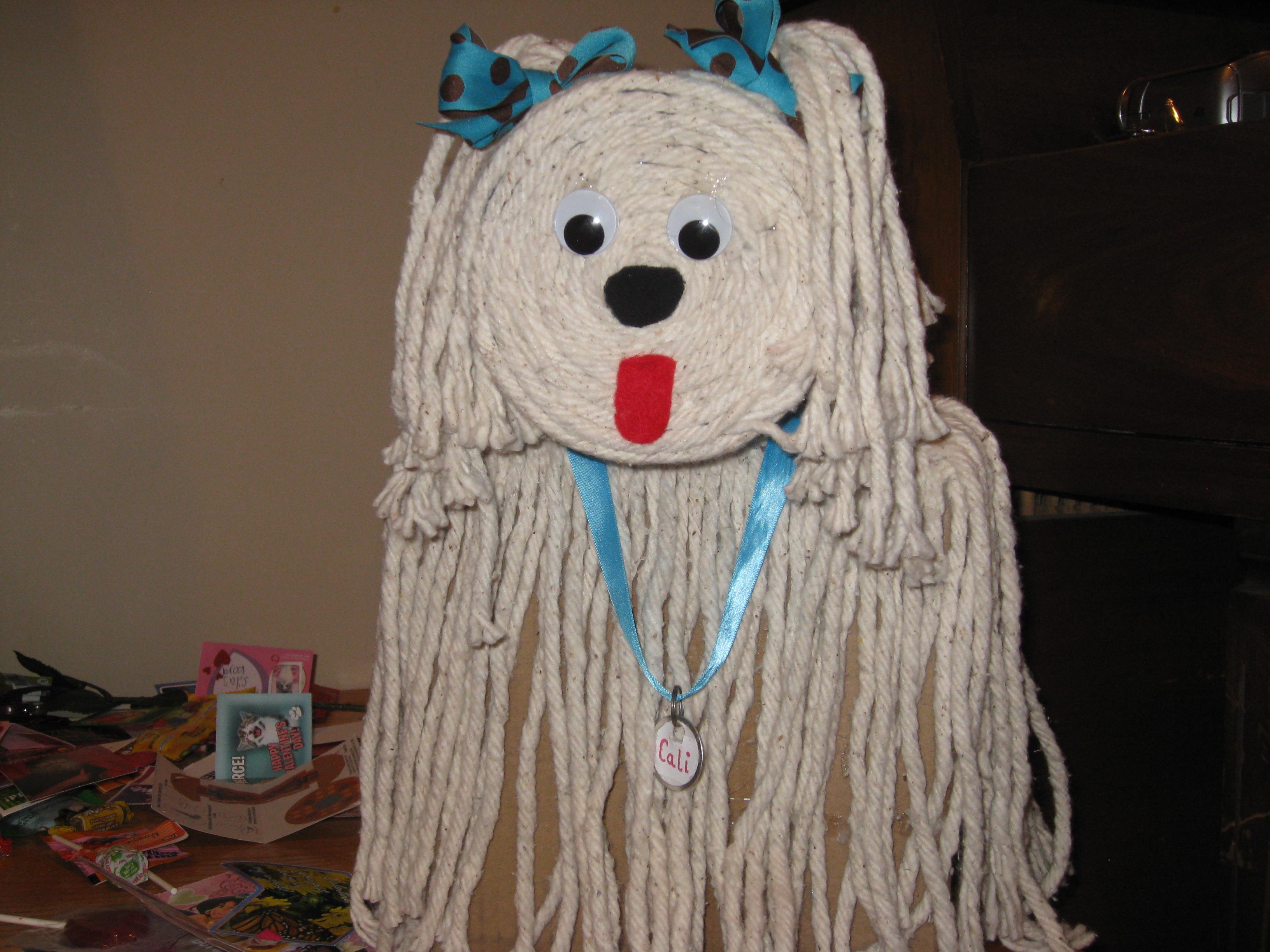 dog mop valentine box  Kathy Hutto