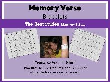 memory verse bracelet cover beatitudes