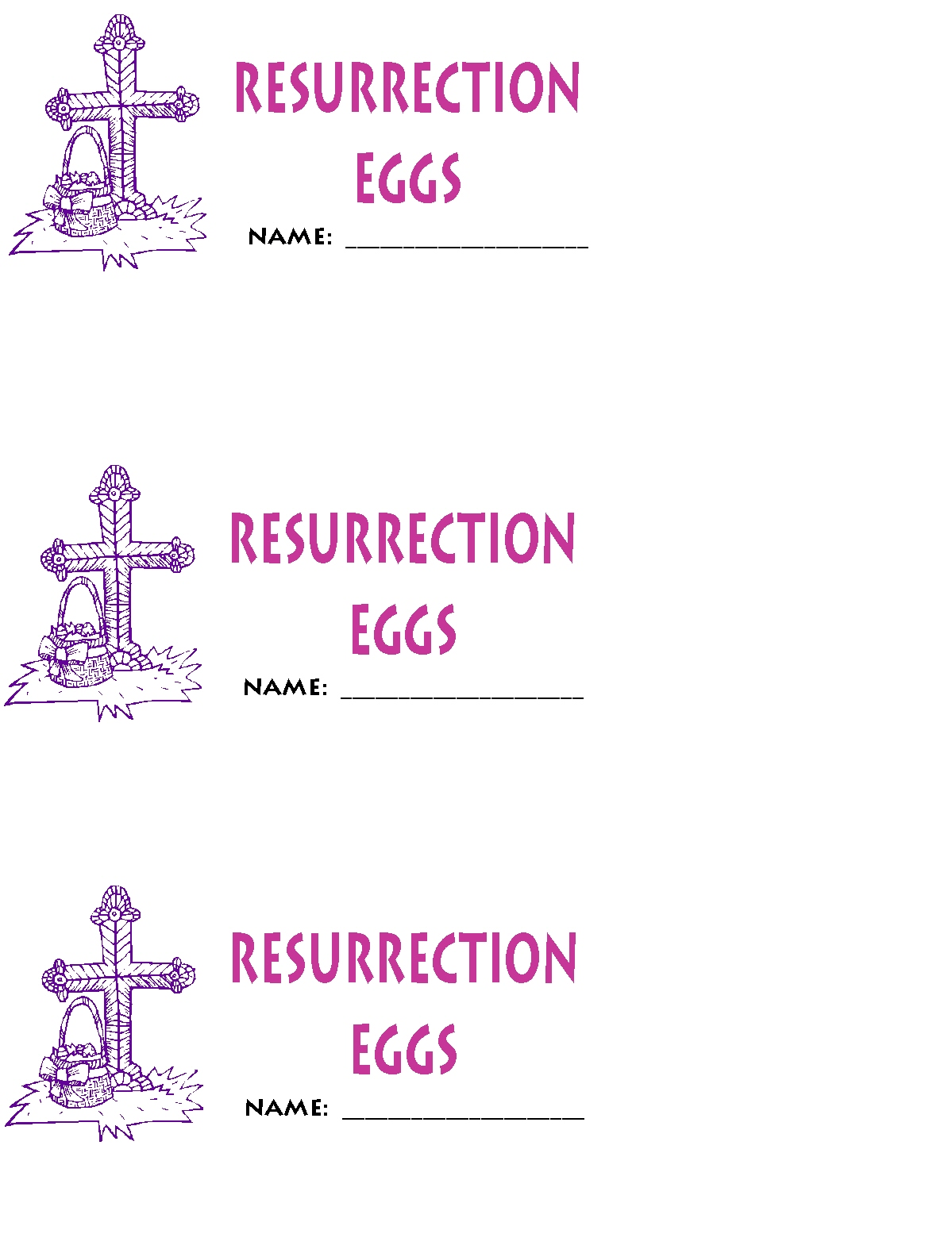 Homemade Resurrection Eggs free printables | Kathy Hutto