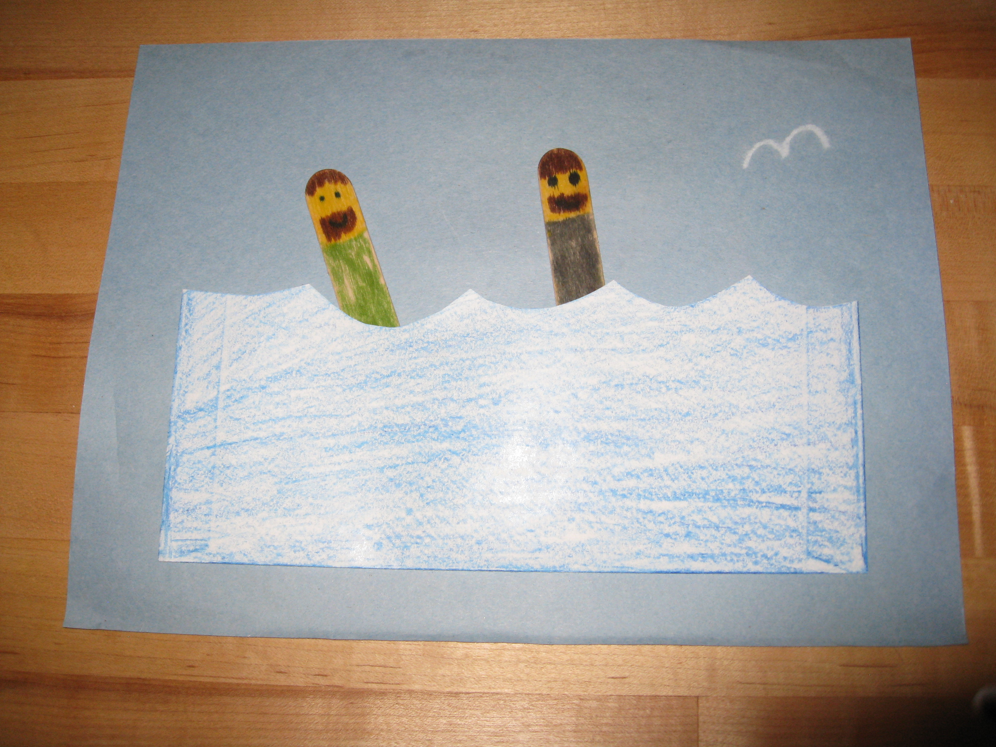 Sunday school crafts for preschool - John Baptized Jesus Crafts