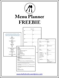 menu planner freebie image