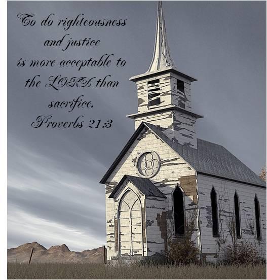 righteousness vs sacrifice picture