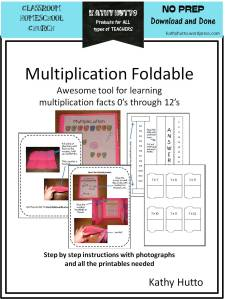 Multiplication Foldable cover jpg