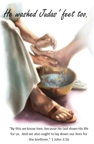 Jesus washes feet