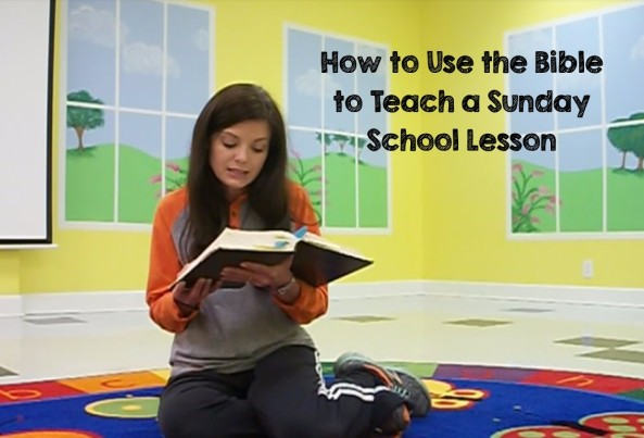 how to use the bible to teach a sunday school lesson thumbnail